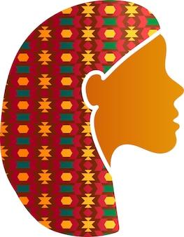 Indiase vrouw gezicht silhouet profielpictogram geïsoleerd. oost- of india-vrouwtje met mooi traditioneel ornament. diversiteit en feminisme concept, vectorillustratie
