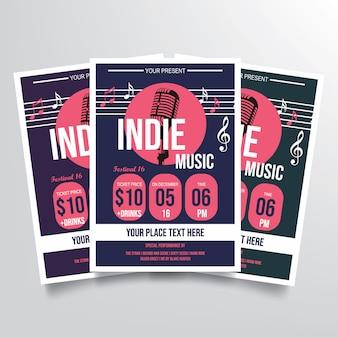 Indie muziek folder sjabloon