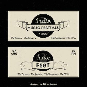 Indie muziekfestival flyer