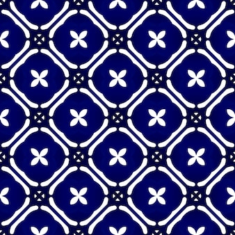 Indigo batik naadloos patroon
