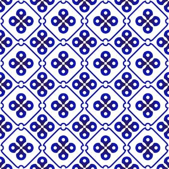 Indigo batik patroon