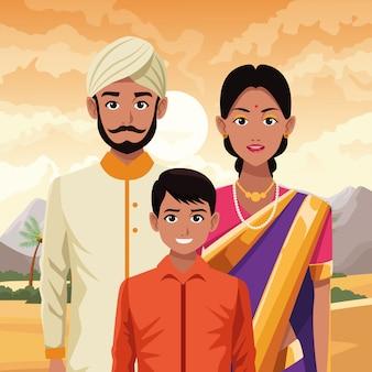 Indisch aziatisch oosters cultuurbeeldverhaal