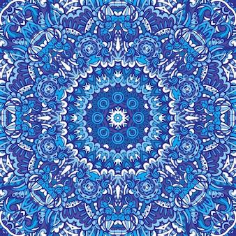 Indisch bloemenpaisley medaillonpatroon