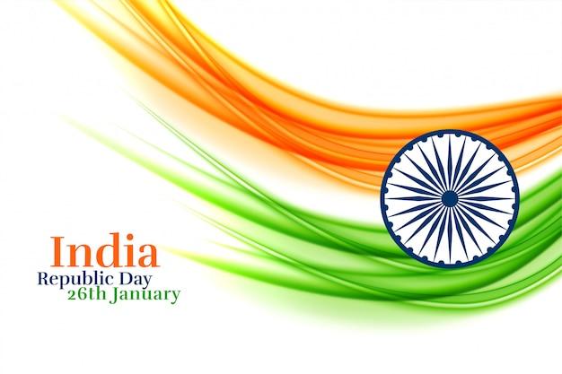 Indisch creatief vlagontwerp voor republiekdag