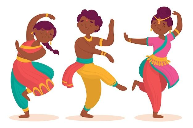 Indische mensen die bollywood dansen