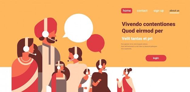 Indische mensen groep chat bubbels communicatie toespraak dialoog