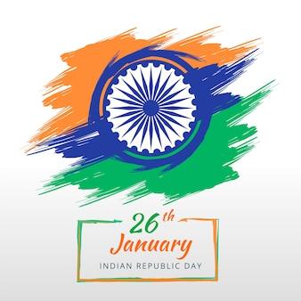 Indische republiekdag in plat ontwerp