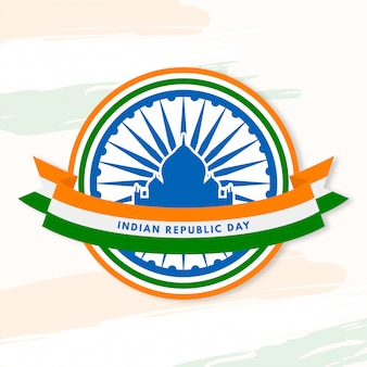 Indische republiekdag met iconische gebouwen