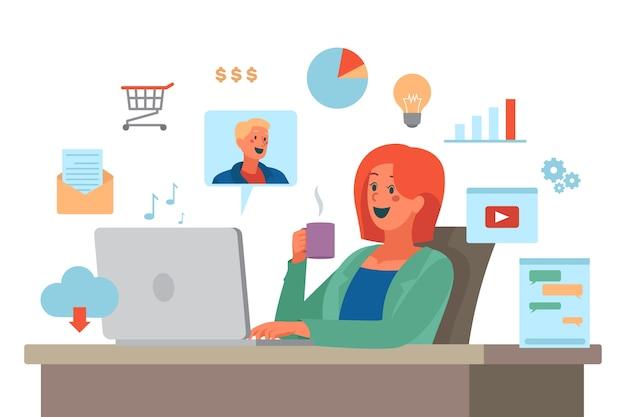 Individueel multitasking-concept