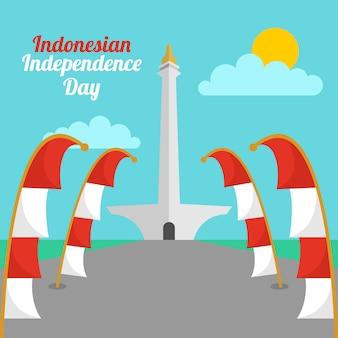 Indonesië onafhankelijkheidsdag illustratie