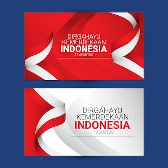 Indonesië onafhankelijkheidsdag sjabloon. ontwerp voor banner, wenskaarten of print.