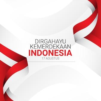 Indonesië onafhankelijkheidsdag sjabloon.