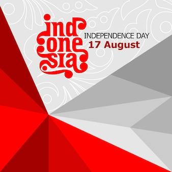 Indonesië onafhankelijkheidsdag tempelate ontwerp