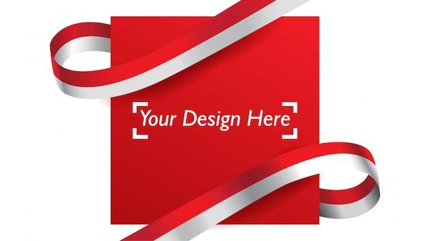 Indonesisch patriottisch malplaatje als achtergrond met lege ruimte voor tekst, ontwerp, vakantie, onafhankelijkheidsdag.