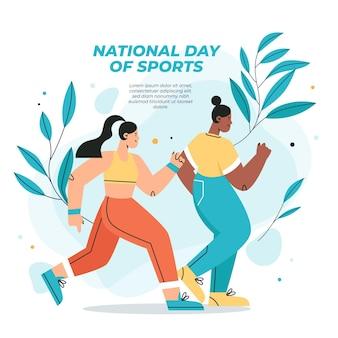 Indonesische nationale sportdag illustratie