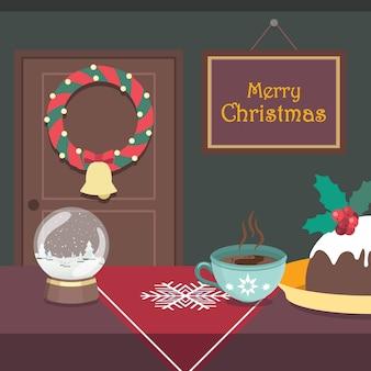 Indoor kersttafereel met een vredige uitstraling