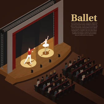 Indoor theater ballet