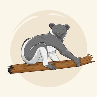 Indri tekenfilm dieren