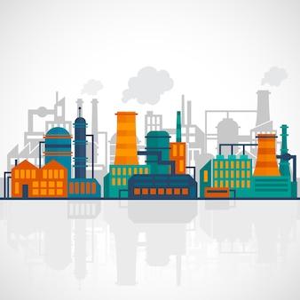 Industrie achtergrond ontwerp Gratis Vector