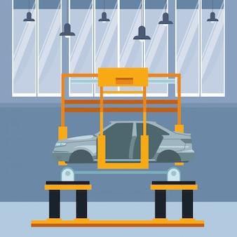 Industrie auto productie cartoon