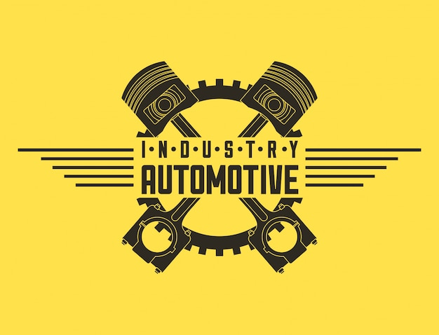 Industrie automotive auto service logo