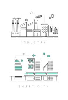 Industrie en slimme stad