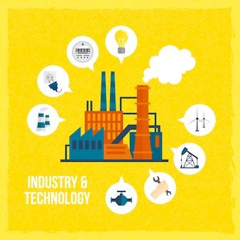 Industrie en technologie achtergrond