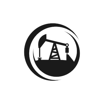 Industrie pictogram logo. olieproductie symbool. vectoreps 10