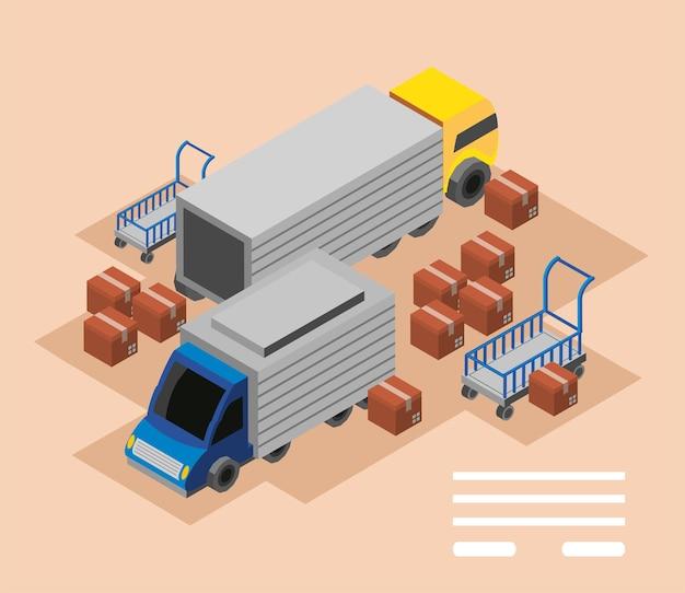 Industrie vrachtvervoer