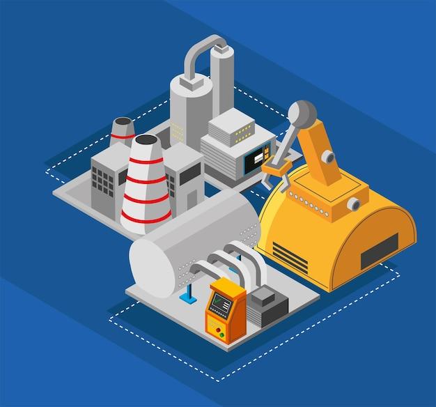Industrieel fabrieksinterieur vervaardigen