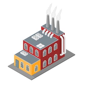 Industrieel gebouw in isometrische weergave