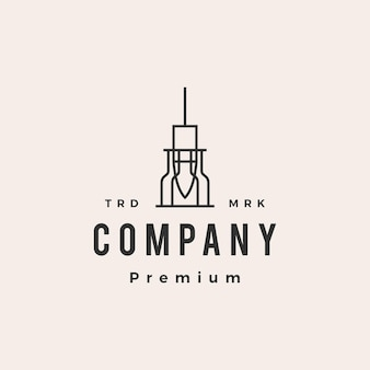 Industriële hanglamp hanglamp hipster vintage logo sjabloon