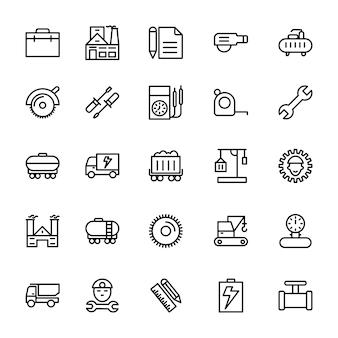 Industriële lijn pictogrammen
