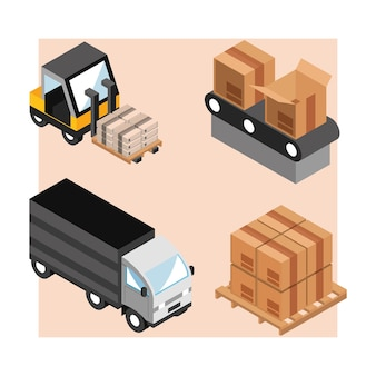 Industriële logistieke set