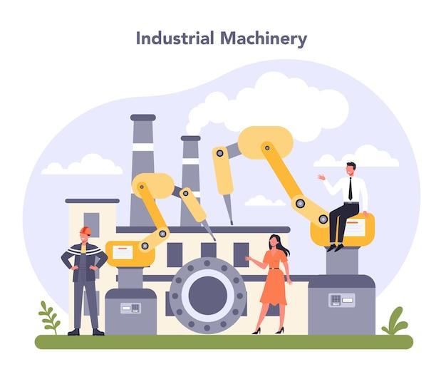 Industriële machines. zware apparatuur voor productie.