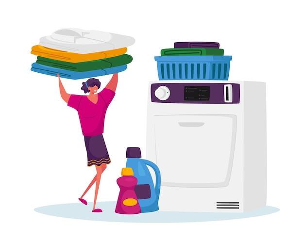 Industriële of huishoudelijke wasserette wassen