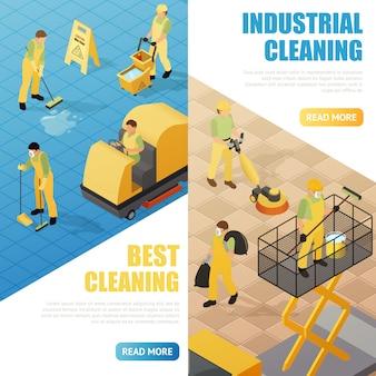 Industriële schoonmaak banners