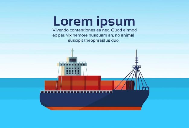 Industriële zee vrachtschip lading logistiek container import export water levering transport