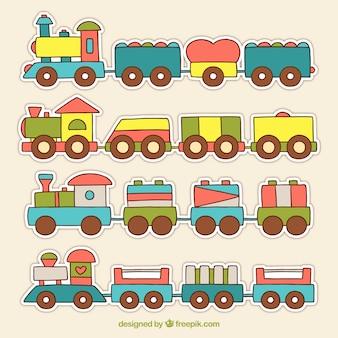 Infantiele treinverzameling