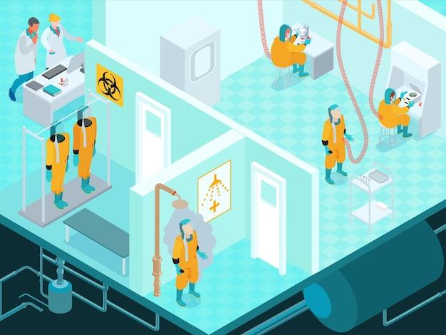 Infectieziekte isometrische illustratie