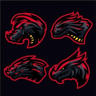 Inferno draak logo set