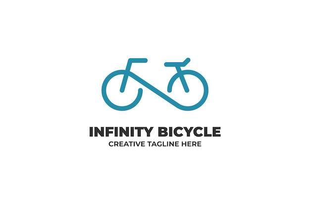 Infinity bicycle one line bedrijfslogo
