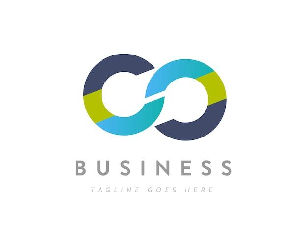 Infinity business logo design of marketing loop logo design