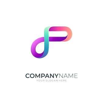Infinity letter p-logo