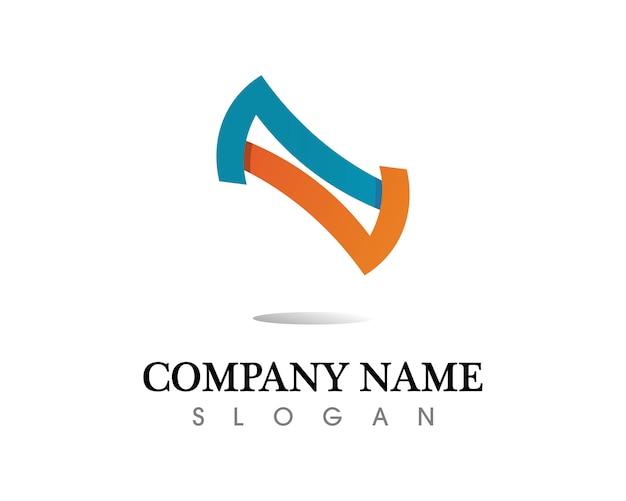 Infinity logo en symbool sjabloon pictogrammen app
