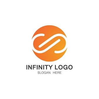 Infinity logo's sjabloon vector pictogram