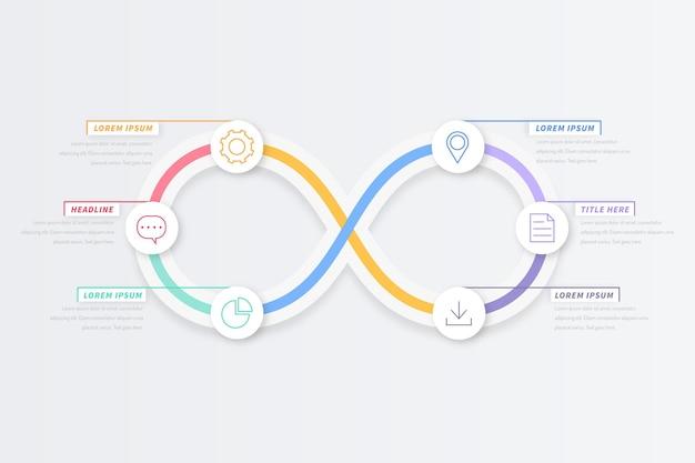 Infinity loop infographic ontwerp