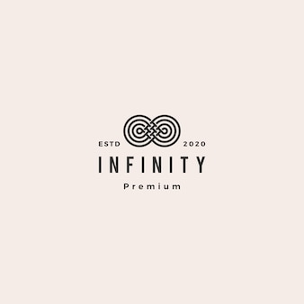 Infinity mobius logo pictogram hipster vintage retro