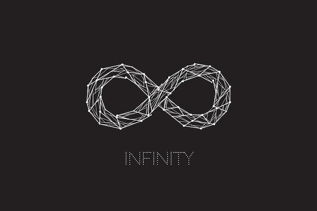Infinity ontwerp met lijn punt concept