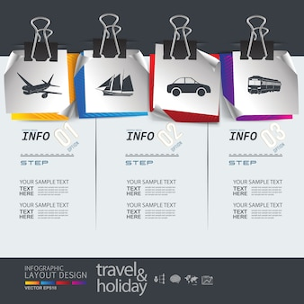 Info grafische lay-out voor reizende sjabloon